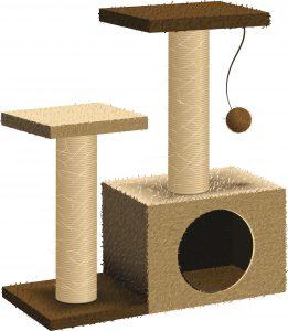 Pet shop vector cat tree, cat furniture
